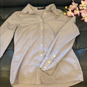 The Limited Purple and White Button Down